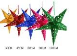 Pendente tridimensionale di Pentagram per la decorazione di festa (JG679)
