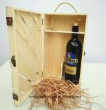 Qualität Zwei-Flasche hölzerner Wein-Kasten mit Fabrik-Preis