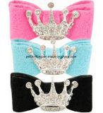 Розовые голубые смычки любимчика Crwon звёздочки, зажим волос, шармы кота собаки