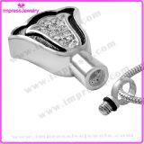 Staineless acero 316L forma de campana cremación urna recuerdos collar de Cenizas Urna colgantes