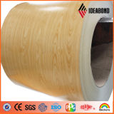Катушка деревянного цвета полиэфира \ PVDF алюминиевая