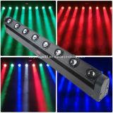 Testa mobile del fascio della barra di illuminazione 8*10W LED della discoteca del partito di effetto