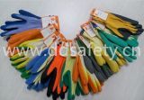 Fluorescentes Ddsafety 2017 9s 5 fils T/C Shell Revêtement latex Gants Orange
