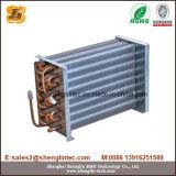 Kupfernes Gefäß-Aluminiumflosse-Kondensator für Luft abgekühlten Kühler