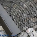 Triturador de pedra que vibra o engranzamento de fio da tela do friso do dobro do aço de carbono elevado