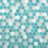 Het witte Ronde Mozaïek van het Glas voor het Verfraaien van Vloer en Muur