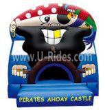 Capitán Inflatable Bouncer del pirata