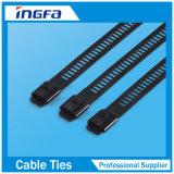 Belüftung-überzogene Strichleiter-Widerhaken-Verschluss-Edelstahl-Kabelbinder 7X225