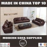 Sofá de couro genuíno moderna para a sala de estar Divany
