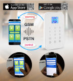 TFTの表示との情報処理機能をもった無線電信GSMの住宅用警報装置の機密保護