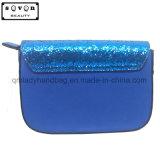 زرقاء لون حقيبة يد مع [شوولدر سترب] وحيد