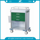Chariot médical de la vente AG-GS005 de peinture en métal de chariot chaud à hôpital