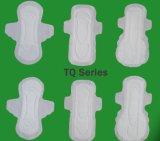 女の子のための中型の流れの柔らかい綿の生理用ナプキン