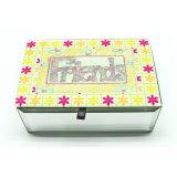Boîte-cadeau fabriquée à la main estampée personnalisée de papier de bijou pour l'emballage