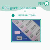 Materiales resistentes de las etiquetas engomadas de las etiquetas adhesivas del rasguño con RoHS y MSDS