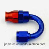 -06 un adaptador de manguera de PTFE de extremo de manguera de teflón de 180 grados