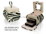 方法シマウマの物質的な長方形のジッパーの宝石箱