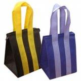 박판으로 만들어진 PP 비 길쌈된 물색 어깨에 매는 가방 핸드백 끈달린 가방