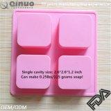 シリコーン型4キャビティ角氷の容器型の正方形の石鹸型