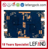 4 de Raad van de Kring van PCB van de Computer van de Controle van de Industrie van de laag met Blauwe Inkt