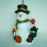 정원 장식을%s 양말 걸이를 가진 수지 크리스마스 눈사람 작은 조상