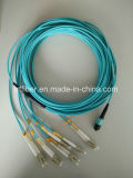 MTP Male-LC Duplex Clips Fiber Cable 40g