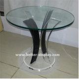 Table à thé acrylique en verre organique avec dessus en verre (BTR-Q7001)
