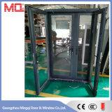 Porta a battenti di alluminio di alta qualità con la rete di zanzara inossidabile