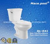 Gabinetto di ceramica delle tolette a due pezzi della stanza da bagno (DL-041)