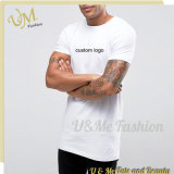 Logo 100% de bonne qualité de coutume de T-shirt de coton de la mode des hommes