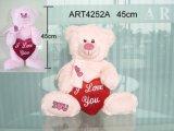 De roze Gelukkige Verjaardag draagt dragend de Rode Gift van het Stuk speelgoed van het Hart