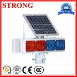 Luz de destello amonestadora solar amarilla/azul/roja de grúa de la construcción del LED