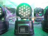 18*1W LED RGB LAVAGEM FAROL em movimento