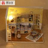 Bricolaje de Inteligencia de 2017 juguete de madera en miniatura de Dollhouse Assemblling