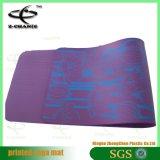 Stuoia antiscorrimento dell'entrata di forma fisica della stampa della stuoia naturale ecologica di yoga