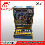 Muntstuk In werking gestelde Volwassenen die de Machine van het Spel, de Gokautomaat van de Arcade gokken