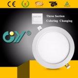 Un colore cambiante caldo LED Downlight rotondo 6W delle tre sezioni con Ce