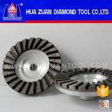 Абразивный диск чашки диаманта одиночного рядка Huazuan 100mm вогнутый
