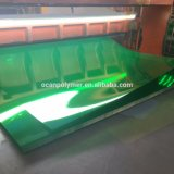 Feuille rigide transparente de PVC de couleur verte pour l'impression de face d'horloge