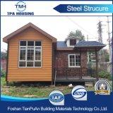 Casa prefabricada de la estructura de acero del chalet del diseño modular ligero del hogar