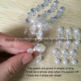 De in het groot AcrylVersieringen van de Gemmen van de Sticker van het Kristal van de Parel van het Bergkristal Kleverige (tp-056)