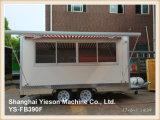 Helado móvil del acoplado del alimento del carro del alimento del blanco de Ys-Fb390f los 3.9m Van