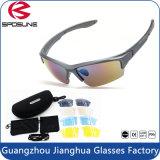 Sports protecteurs UV faisant un cycle des lunettes de soleil d'activités en plein air en verre avec la lentille 5 interchangeable incassable