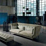 Do fiapo da tela sofá cinzento moderno da parte traseira altamente na sala de visitas (F720-7)