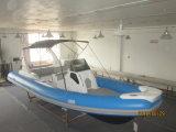 Liya 7.5m de Boot van de Rib van Rafting van de Rivier van de Passagier van de Glasvezel met Aanhangwagen