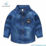 Modo e camicia del denim del Lungo-Manicotto dei ragazzi contratti dai jeans della mosca