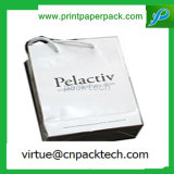 Bolsa de papel reciclada lujosa de Kraft con la impresión de la insignia para las compras de la ropa de los deportes