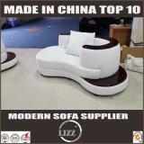 Hauptmöbel-weißes Leder-Sofa ohne Armlehne