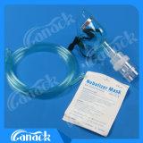 Máscara de oxígeno de la máscara del nebulizador de la máscara de la anestesia para el adulto