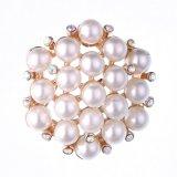 Brooch dei monili di modo del fiore di esagono della perla